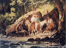 Campesinos a caballo