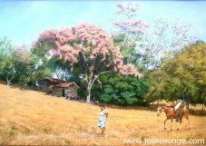 Mujer y su caballo